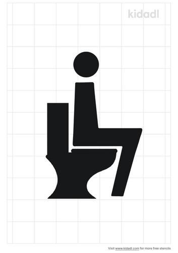 sitting-on-toilet-stencil