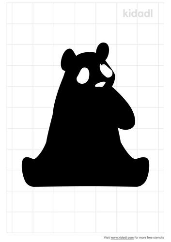 sitting-panda-stencil