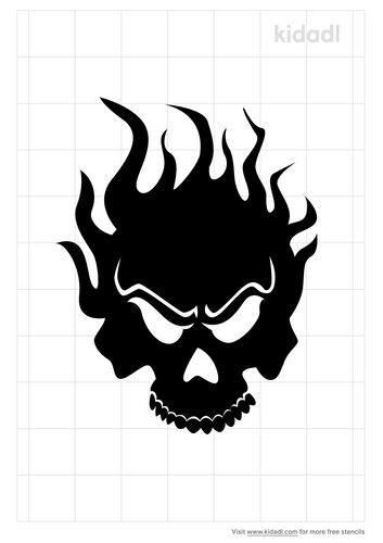 skull-and-flames-stencil