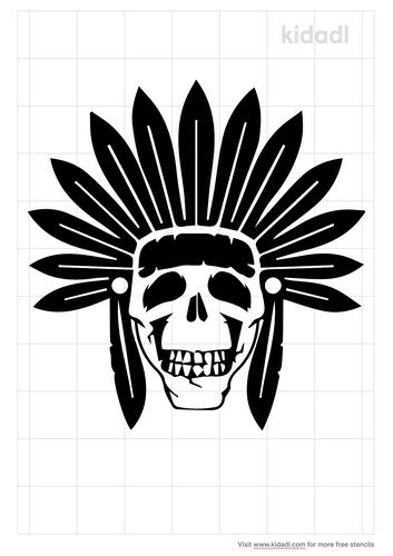 skull-and-headdress-stencil