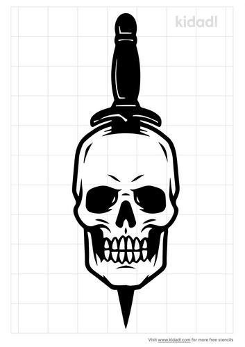 skull-dagger-stencil