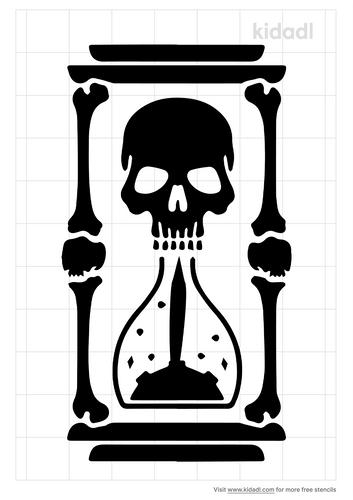 skull-hourglass-stencil