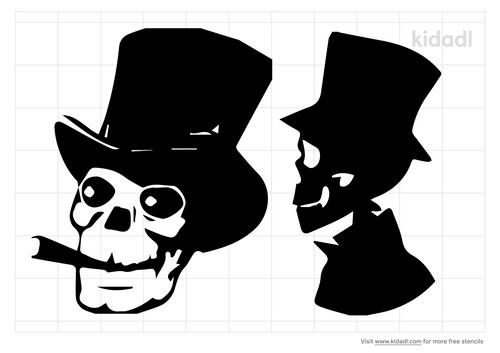 skull-in-a-top-hat-stencil