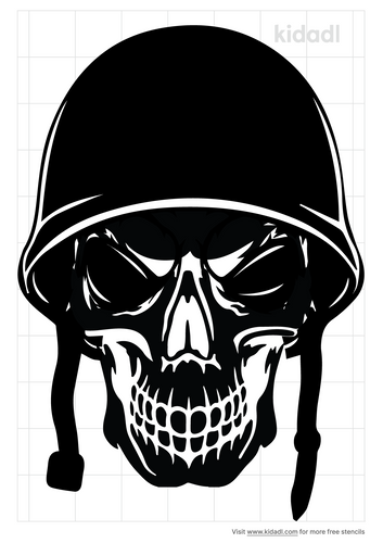 skull-with-helmet-stencil