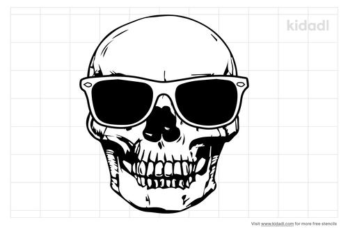 skull-with-sunglasses-stencil