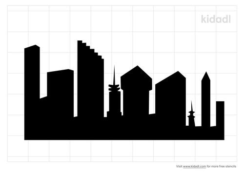 skyscrapers-stencil
