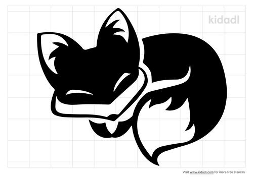 sleeping-fox-stencil