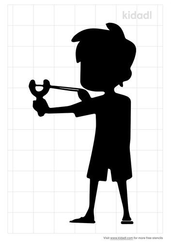 slingshot-boy-stencil