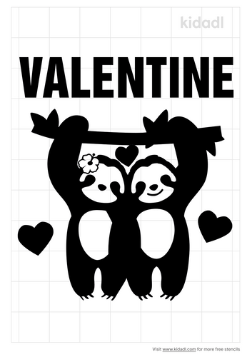 sloth-valentine-stencil