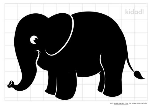 smiling-elephant-stencil