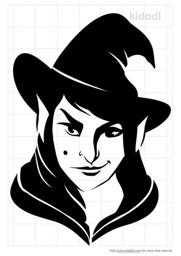 smirking-witch-stencil
