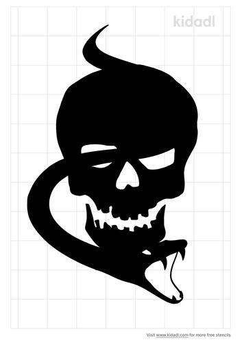 snake-through-skull-stencil