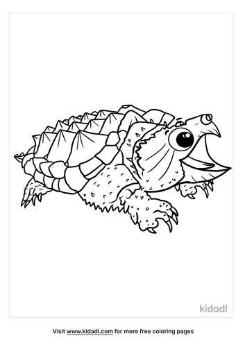 Snapping Turtle Coloring Pages Free Animals Coloring Pages Kidadl