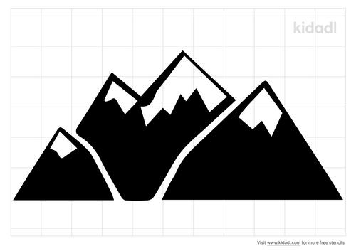 snow-on-mountain-stencil