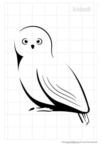 snow-owl-stencil