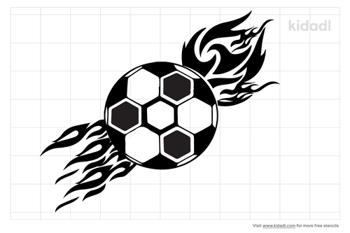 soccer-ball-with-flames-stencil