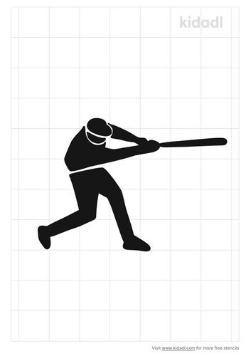 softball-player-stencil