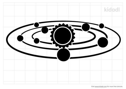 solar-system-stencil