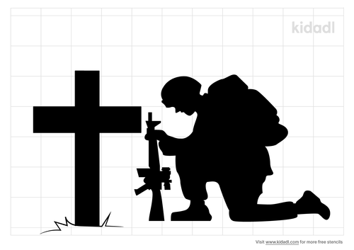 soldier-at-a-cross-stencil