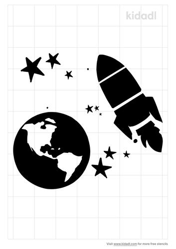 spaceship-earth-stencil