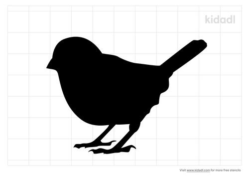 sparrow-stencil