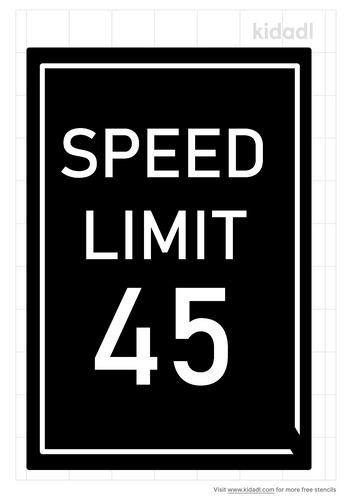 speed-limit-stencil