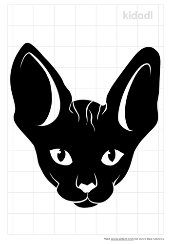 sphynx-cat-head-stencil
