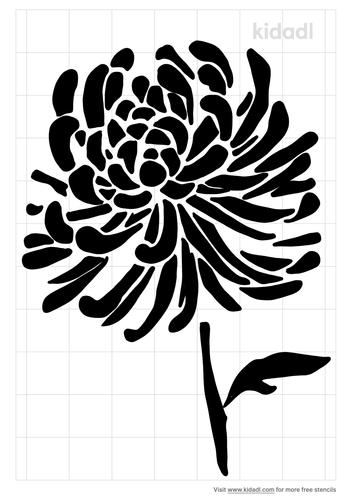 spider-chrysanthemum-stencil