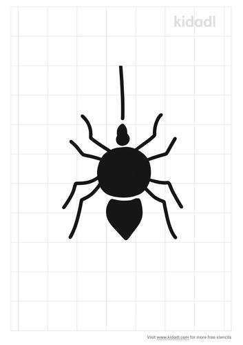spider-on-a-string-stencil