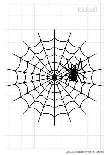 spider-on-web-stencil