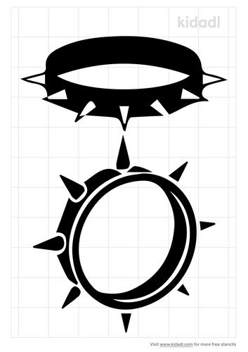 spike-collar-stencil