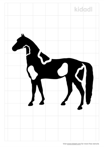 spotted-saddle-horse-stencil