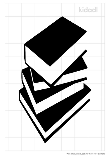 stack-of-books-stencil