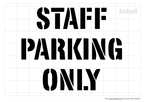 staff-parking-only-stencil