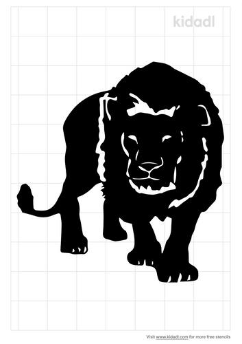 stalking-lion-stencil