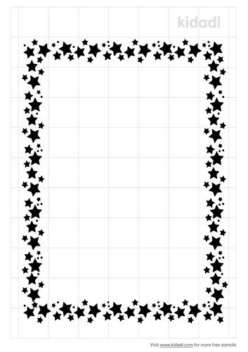 star-border-stencil