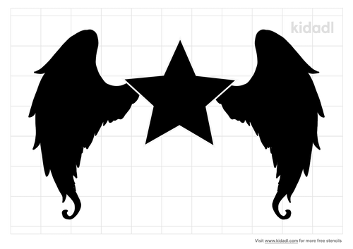 star-with-wings-stencil
