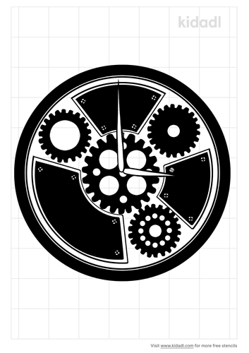 steampunk-clock-stencil