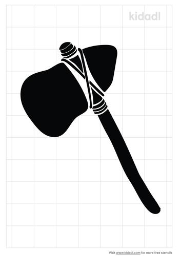 stone-axe-stencil
