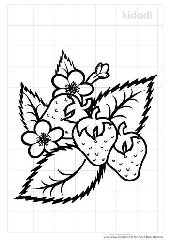 strawberr-plant-stencil