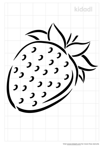 strawberry-stencil