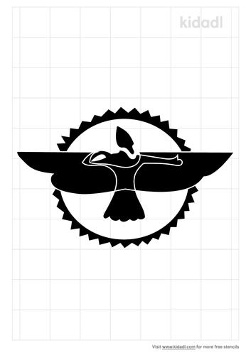 sun-god-wings-stencil