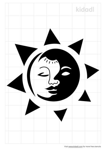 sun-moon-kissing-stencil