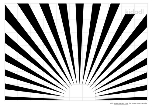 sunrays-stencil