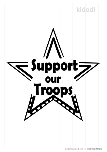 support-the-troops-stencil