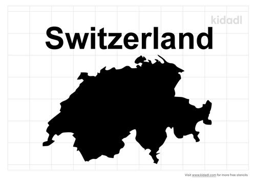 switzerland-stencil