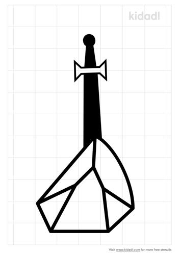 sword-in-the-stone-stencil