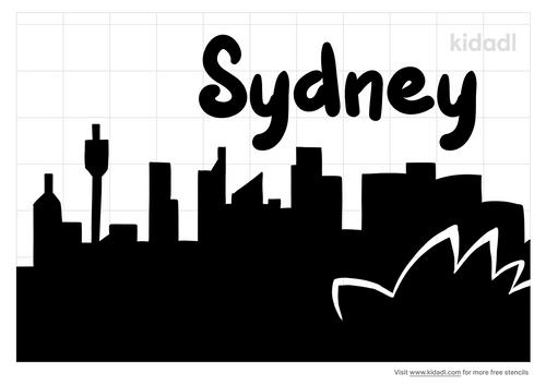 sydney-skyline-silhouette-stencil