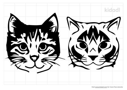 tabby-cat-face-stencil