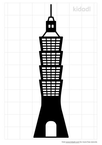 taipei-101-stencil